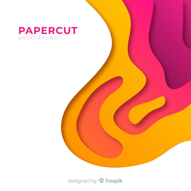 Papercut backgound Free Vector