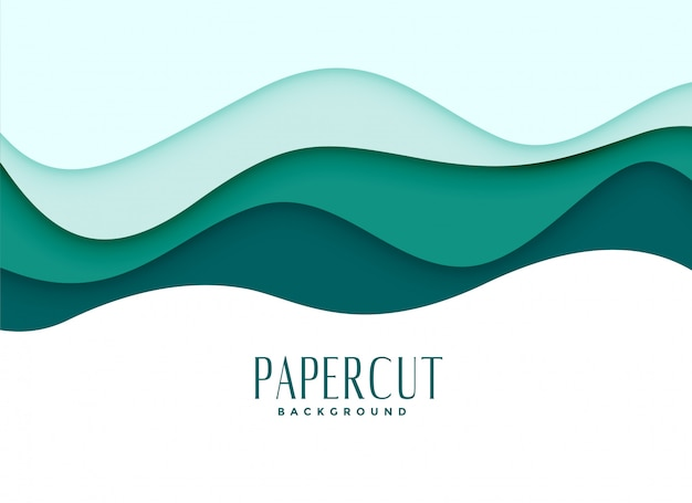 Papercut background in wavy style Free Vector