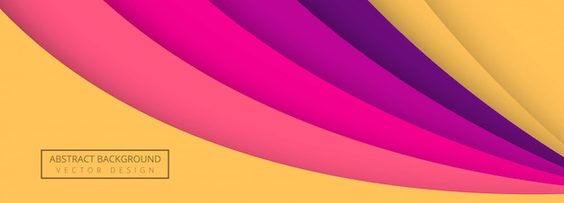 Papercut colorful stylish wave banner template background Free Vector