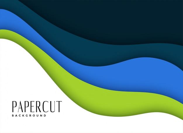 Фон слоев papercut в цветах бизнес-темы Бесплатные векторы
