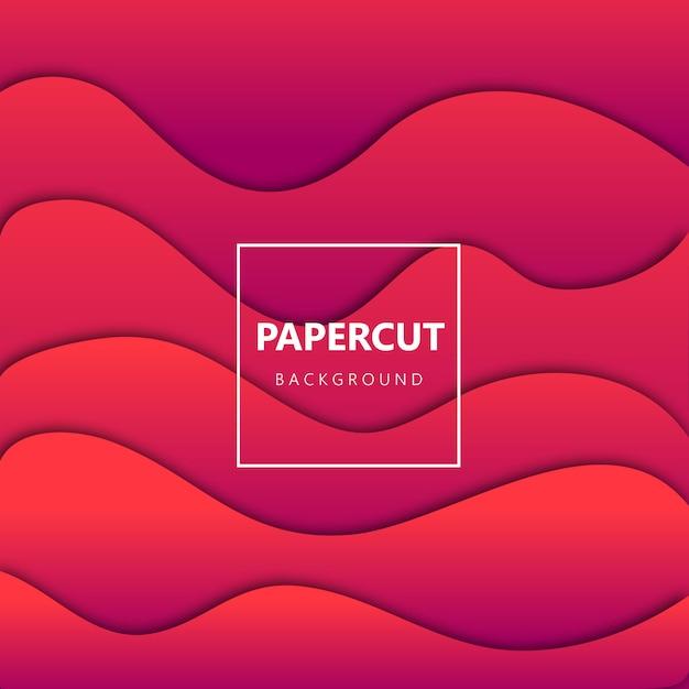 Papercut фон с градиентом стиля Premium векторы