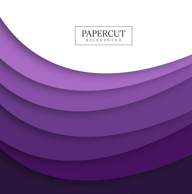 抽象的なpapercutカラフルな波の形状のデザイン 無料ベクター