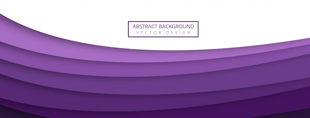 Абстрактная творческая волна с papercut баннер фоном Бесплатные векторы