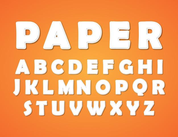 Papercutスタイルのアルファベット Premiumベクター