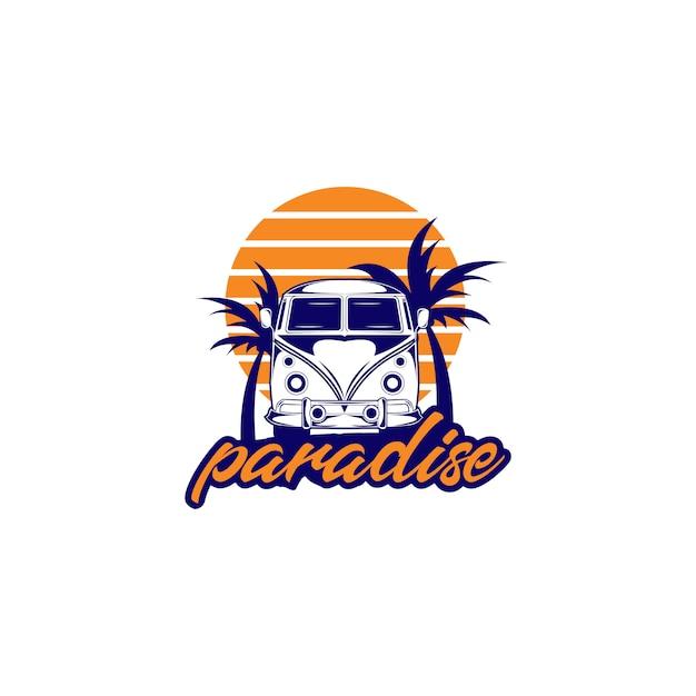 Paradise logo illustration Premium Vector