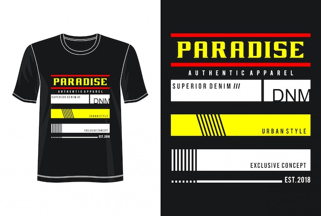 Рай типография дизайн футболки Premium векторы