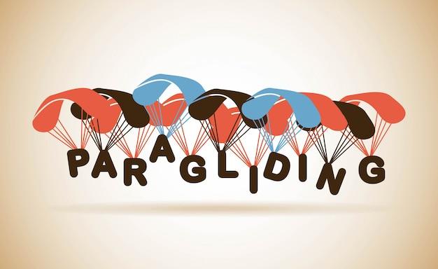 Paragliding design over beige background vector illustration Premium Vector