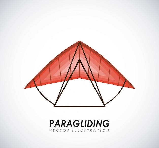 Paragliding design over gray background vector illustration Premium Vector