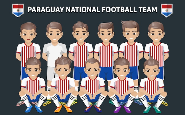 Paraguay national football team Premium Vector