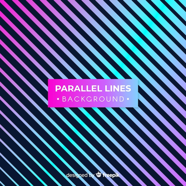 Parallel lines background Free Vector