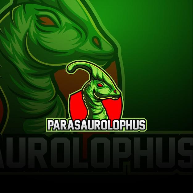 Parasaurolophus esportマスコットロゴ Premiumベクター