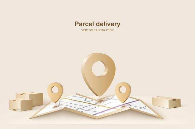 Доставка посылок Premium векторы