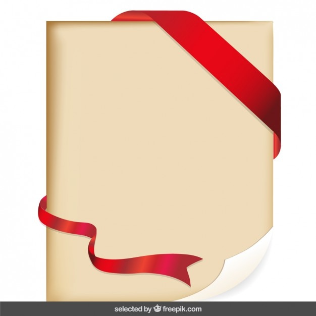 parchment with red ribbon vector
