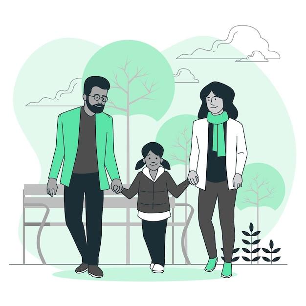 Illustrazione di concetto di genitori Vettore gratuito