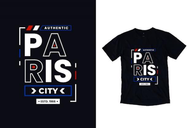 Paris city modern typography lettering Premium Vector
