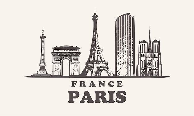 パリの街並み、フランス Premiumベクター