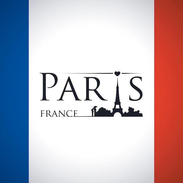 Paris design, vector illustration. Premium Vector