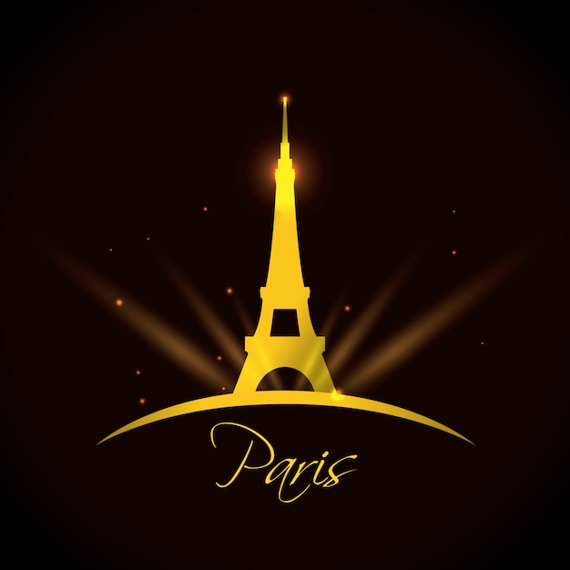 Paris design, vector illustration. Premium Vector
