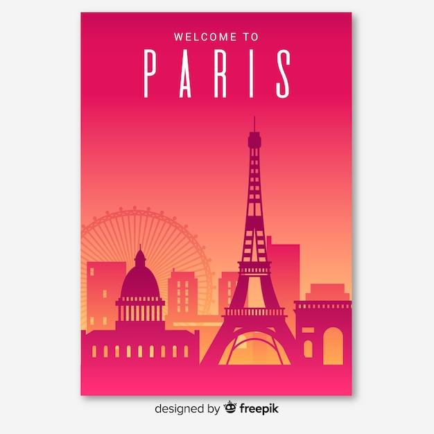 Paris flyer Free Vector