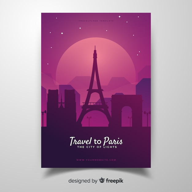 Paris flyer Free Vector