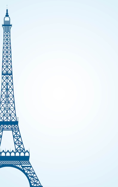 Paris icon over white background, vector illustration Premium Vector