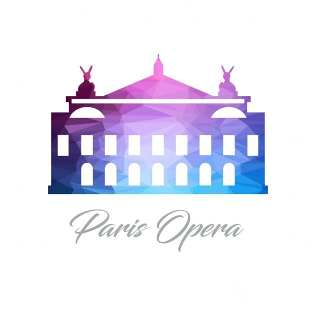 Polygonal House Logo: Par S Opera, Polygonal