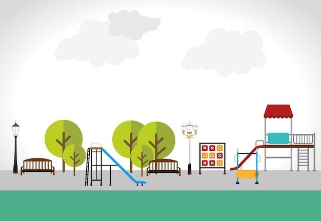 Park design over white background vector illustration Premium Vector