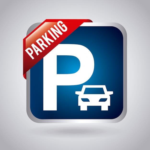 Parking design Premium Vector