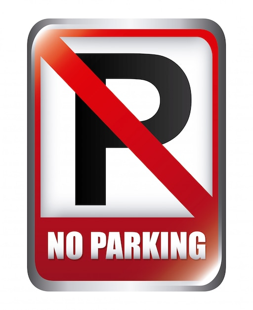 Parking graphic design  vector illustration Free Vector