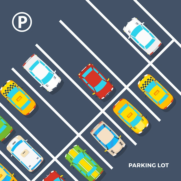 Parking lot poster Free Vector