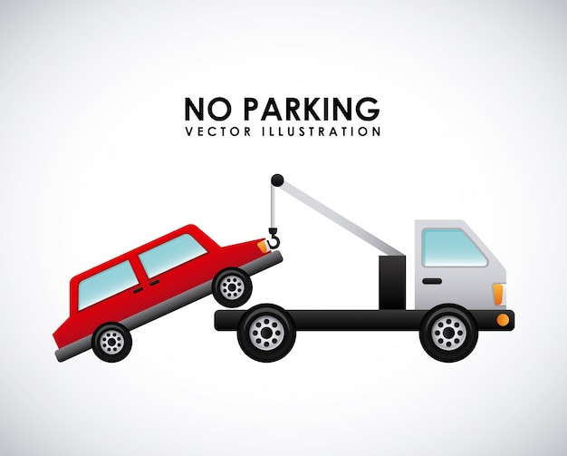 Parking signal over gray   background vector illustration Premium Vector