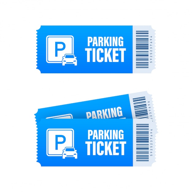 Premium Vector | Parking tickets, great design for any purposes. parking  zone. stock illustration.