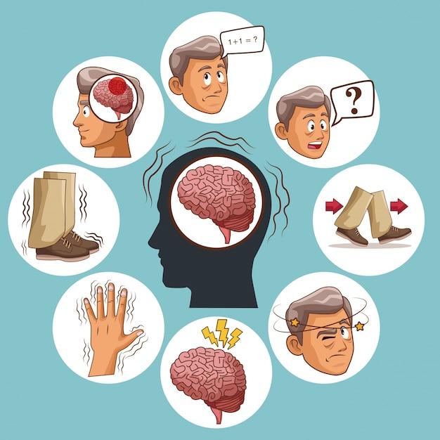 Parkinsons disease cartoon Premium Vector