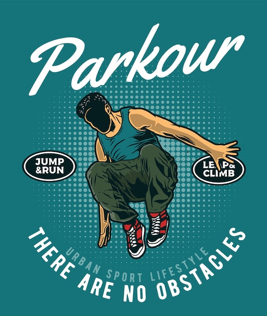 Parkour urban athlete Premium Vector