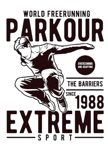 Parkour Premium Vector