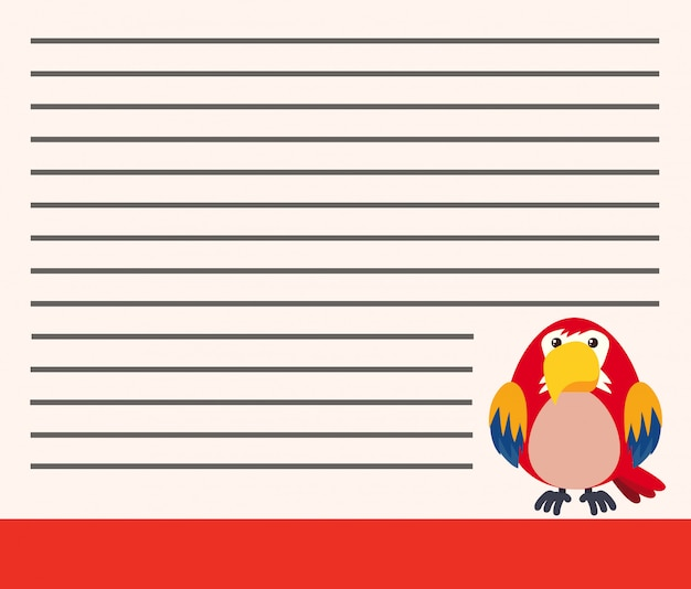 Parrot on blank note copyspace Free Vector