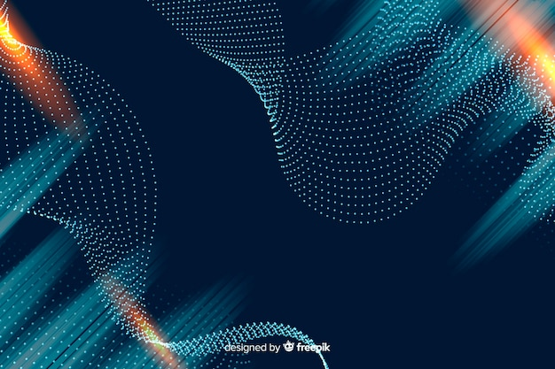 Particles background in gradient Free Vector