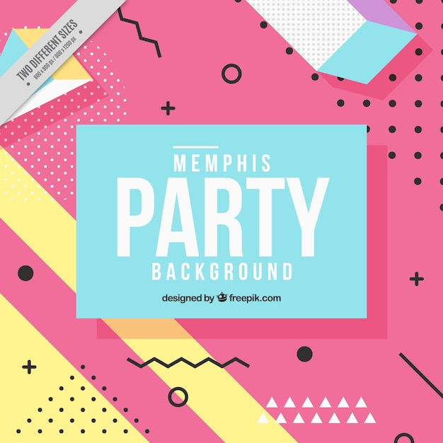 Party background of geometric shapes Free Vector