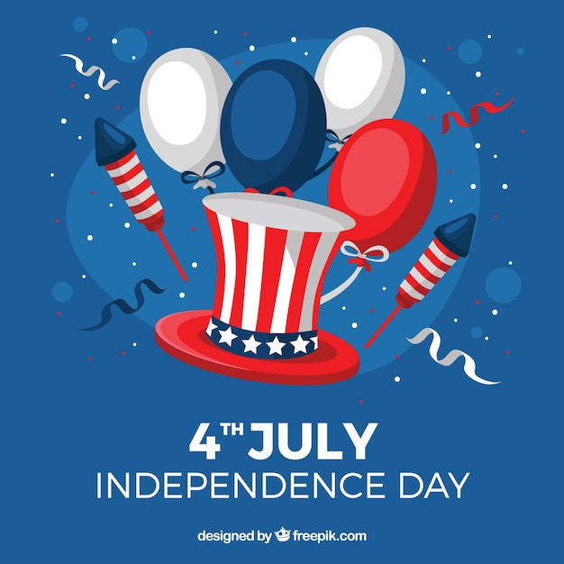 Party background with balloons for independence day Free Vector