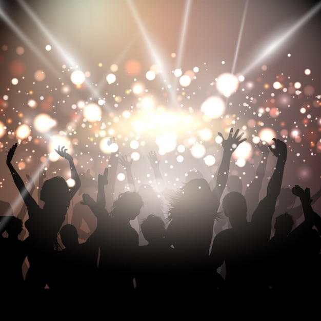 celebration background image party background with golden lights vector free download 7489
