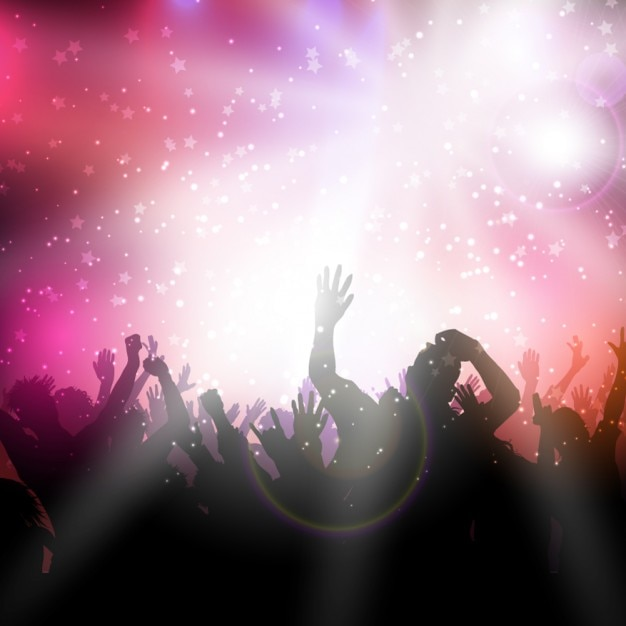 Party background with pink lights Vector | Free Download