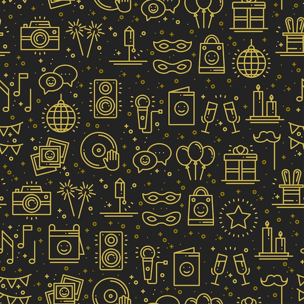 Party celebration seamless pattern Premium Vector