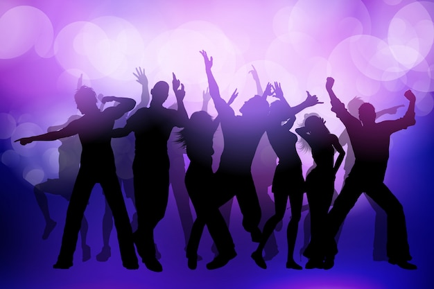 Party crowd background Free Vector