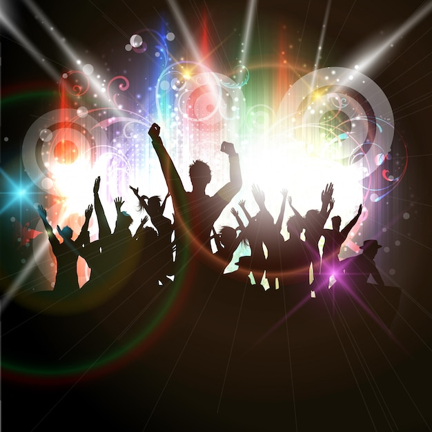 Party crowd Free Vector