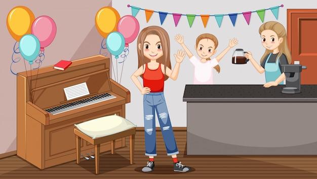 Fai festa durante la quarantena a casa Vettore gratuito
