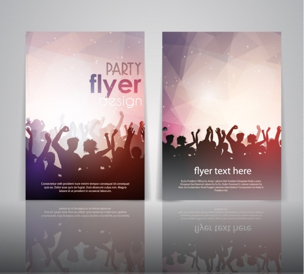 Party Flyer Design Vector | Free Download