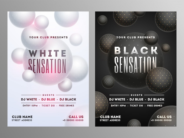 Party flyer design. Premium Vector