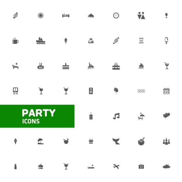 Party icons Free Vector