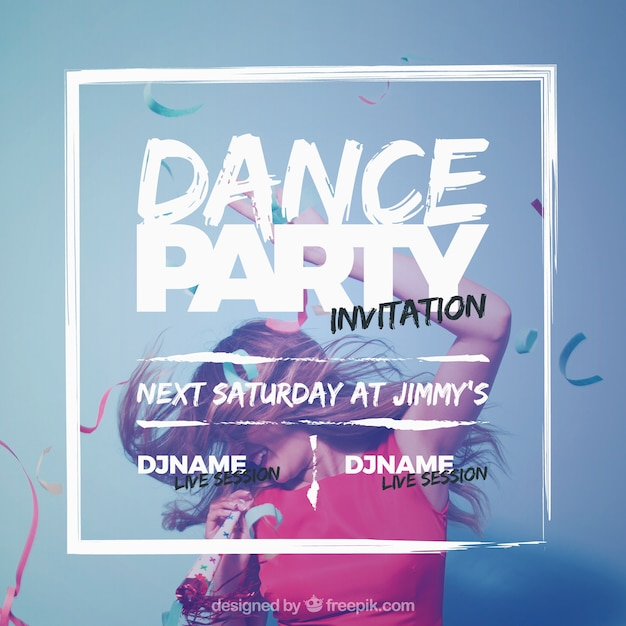 Party invitation design Free Vector