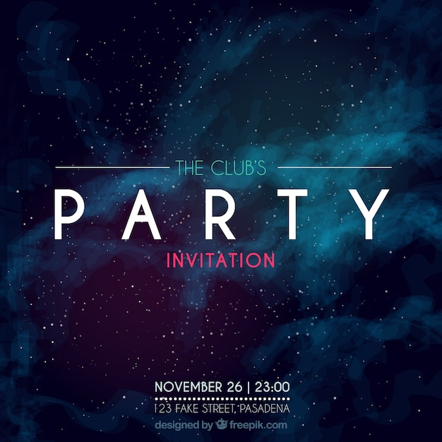 Party poster vectors photos and psd files free download party invitation galactic style stopboris Choice Image